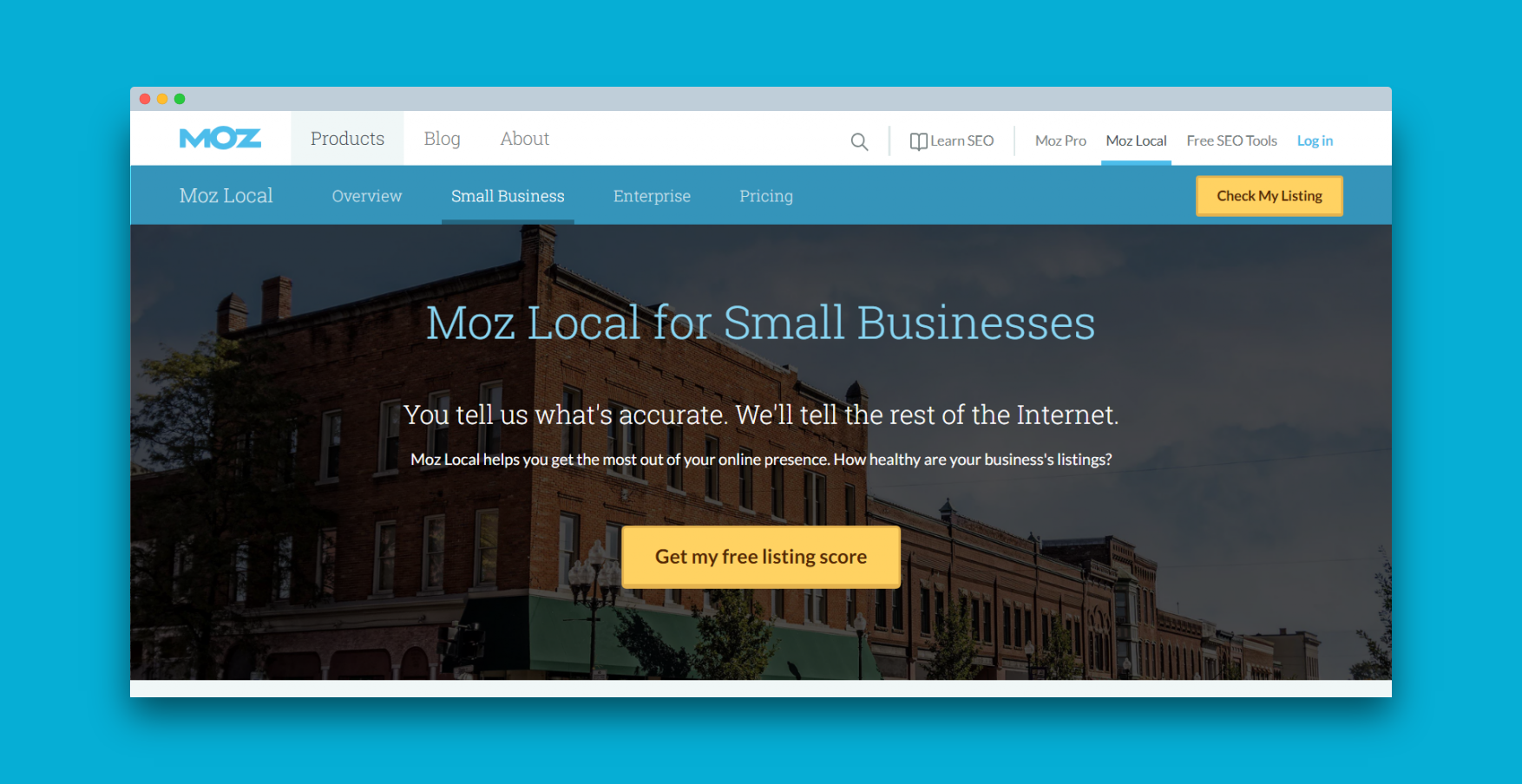 small business listing moz