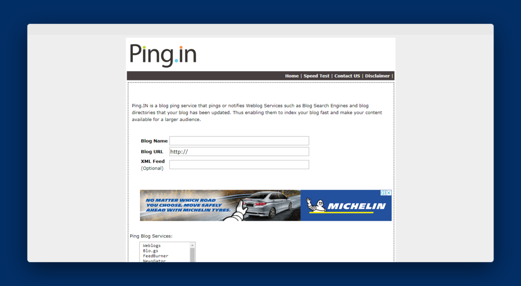 Top 25 Ping Submission Sites List 2019 [Fast Index in Search