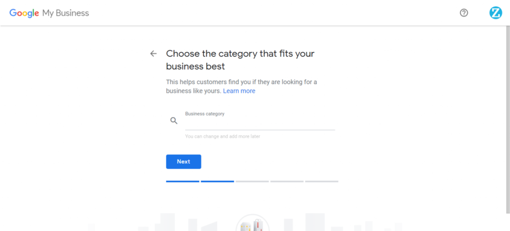 business category select