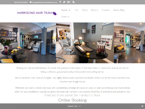 Harrisons Hair Salon in Ashford Kent, Based at Evegate.
