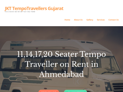 JKT TempoTravellers Gujarat – YOU CHOOSE WHERE WE TAKE YOU THERE